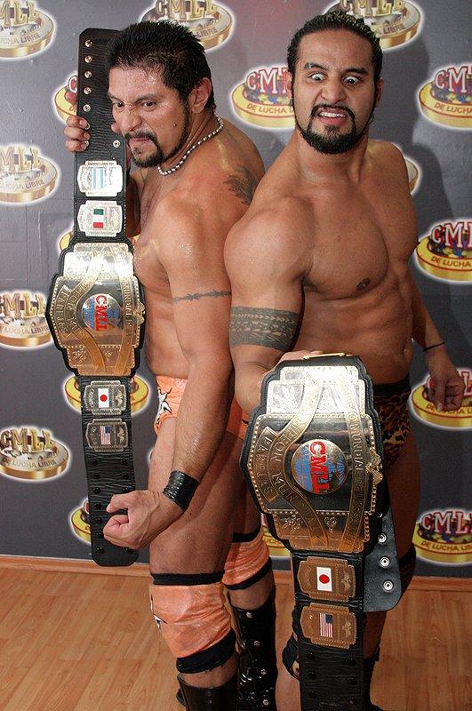 Photo of El Terrible  & his friend Tama Tonga